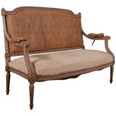 19th Century Original Painted French Sofa