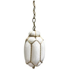 Seguso Murano Handblown Cage Light Pendant