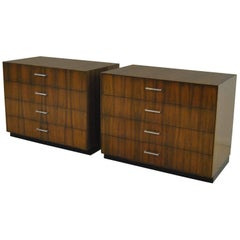 Pair of Harvey Probber Style Four-Drawer Chests by Directional