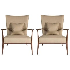 Pair of North Curved Back Armchairs