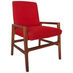 Scandinavian Midcentury Red Fumed Oak Armchair