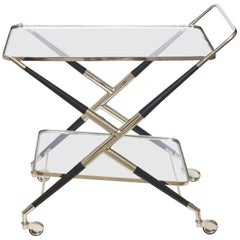 Italian Cesare Lacca Midcentury Bar Cart or Trolley