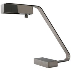 1970s, Casella Table Lamp in Nickel-Plated Bronze