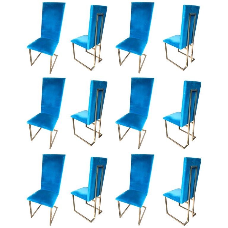 Set of 4 Willy Rizzo Dining Chairs