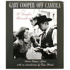 Gary Cooper Off Camera by Maria Cooper Janis, Signed First Edition