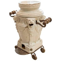 White Faience Neoclassical Brasero