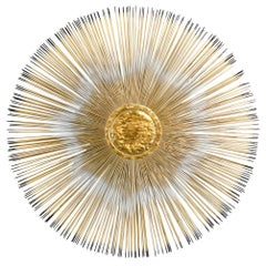 Brass Sunburst Wall Sculpture, circa 1970