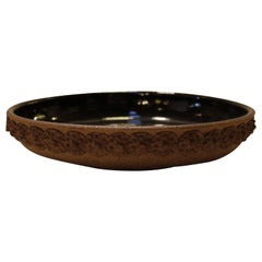 Terracotta Decorative Bowl with Flower Motif