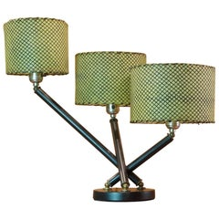 Midcentury Triple Arm Table Lamp in the Manner of Gino Sarfatti