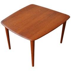 Rare Danish Modern Solid Teak Trapezoidal Side Table by Hvidt & Mølgaard-Nielsen