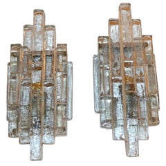 Poliarte Wall Sconces in Glass, Italy 1960s
