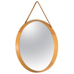 Teak Wall Mirror by Uno and Östen Kristiansson