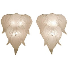 Leaf Murano Glass Wall Sconces
