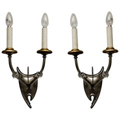 Two Extraordinary Art Deco Wall Lamps