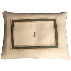 Made by Howe Bertie Dog Bed Made with Vintage Yves Saint Laurent Wool Blanket