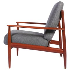 Midcentury Danish Grete Jalk Teak Lounge Chair for Glostrup Møbler