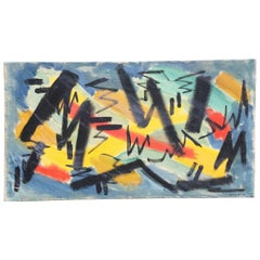 Jacob Semiatin 1958 Abstract Expressionist Painting