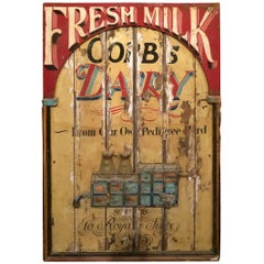 Wonderful Vintage Hand-Painted Fresh Milk Sign