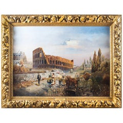 19th Century Oil Painting François Gérard 1770-1837 of the Colosseum