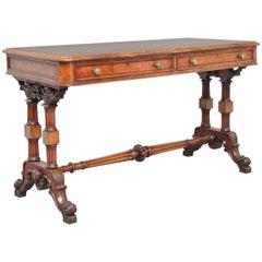 19th Century Walnut Writing or Sofa Table