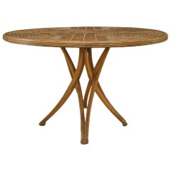 Rustic Continental Style Stripped Twig Dining Table