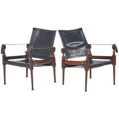 "Pair of ""Safari"" Chairs Attributed to Kaare Klint"