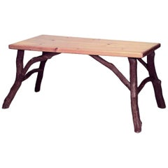 American Rustic Old Hickory Style Rectangular Dining Table