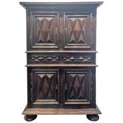 French Louis XIII Walnut Cabinet, circa 1680