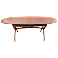 Danish Drop-Leaf teak Office Desk or Dining Table by Børge Mogensen in Teak 1950