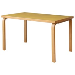 Rare Alvar Aalto Yellow Linoleum Table