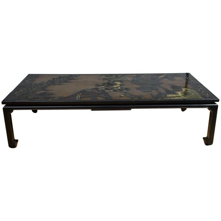 19th Century Chinese Coromandel Panels as Coffee Table For Sale