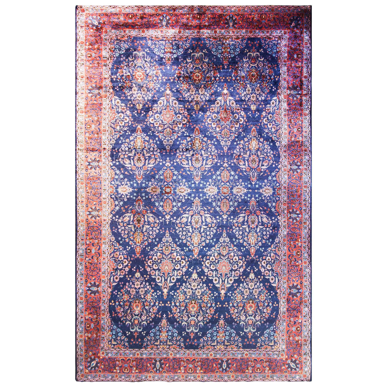 Antique Fine Persian Manchester Wool Kashan Carpet