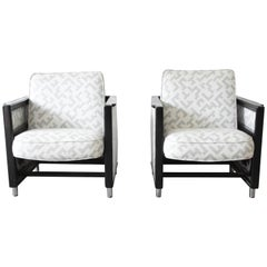 Edward Wormley for Dunbar Rocking Lounge Chairs, Pair