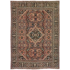 Antique Persian Mahal Rug with Arts & Crafts Style