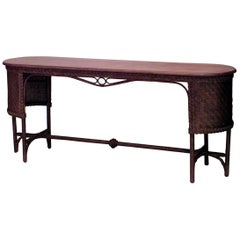 American Mission Natural Wicker Davenport Table