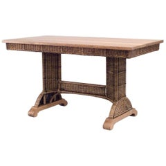American Mission Natural Wicker 'Library' Table Desk