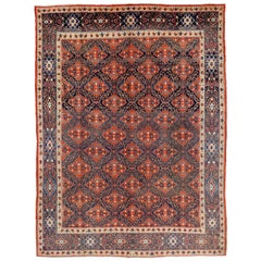 Vintage Persian Mashhad Rug with Modern Traditional Style