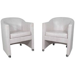 Pair of Club Chairs by Preview Furniture Company