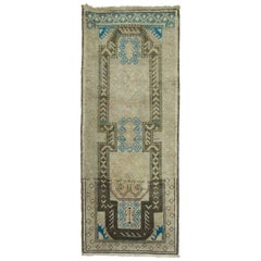 Turkish Anatolian Rug with Pops of Blue