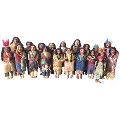 Antique Skookum Indian Doll Collection