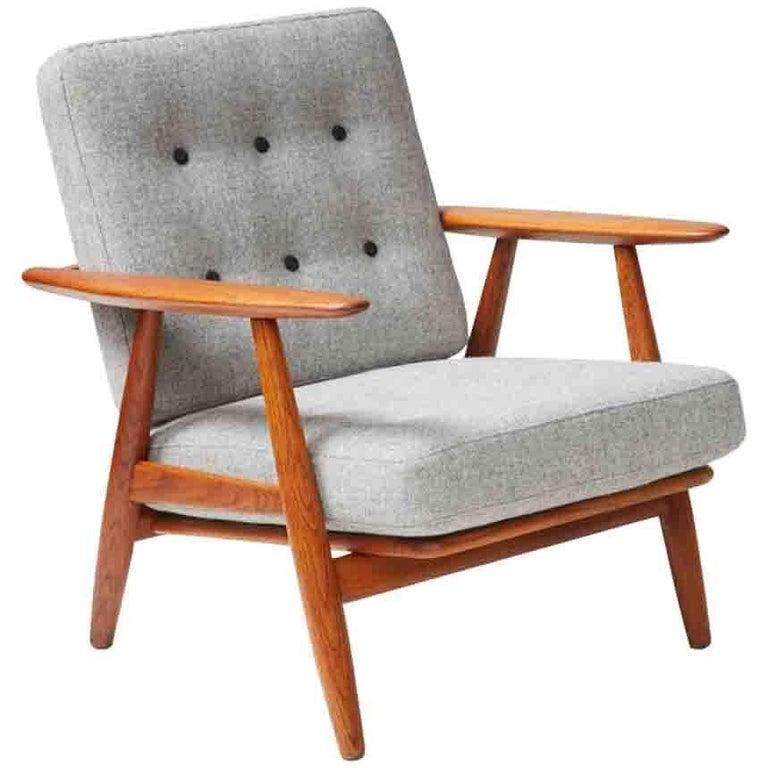 Hans Wegner GE-240 Oak Cigar Chair For Sale
