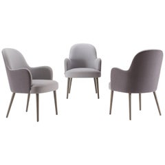 4 DA Vinci Dining Armchairs, Quickship Dining Chair Upholstered in Fabric
