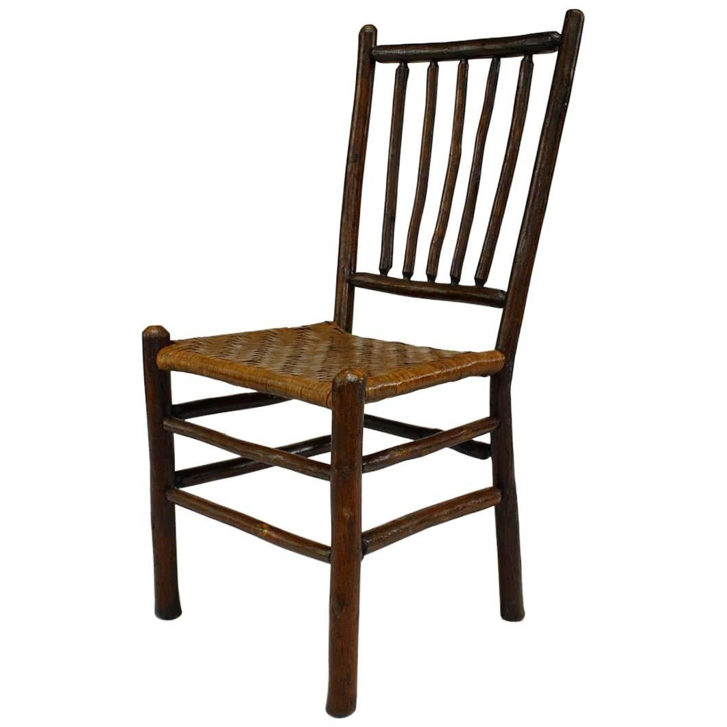 Set Of Four Rustic Old Hickory Side Chairs