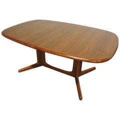 Large Danish Modern Moller Teak Extendable Dining Table by Gudme Mobelfabrik