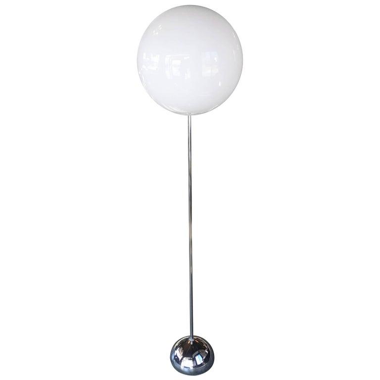 Robert Sonneman Quot Lollipop Quot Globe Chrome Floor Lamp At 1stdibs