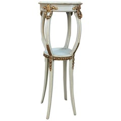 19th Century French Louis XVI Painted and Gilded Pedestal