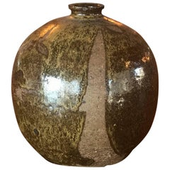 Vintage Midcentury Weed Pot Pottery Vase Abstract Sculpture