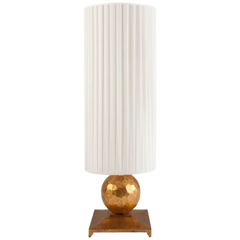 Turner Table Lamp in Oro Nero Gold Finish For Sale