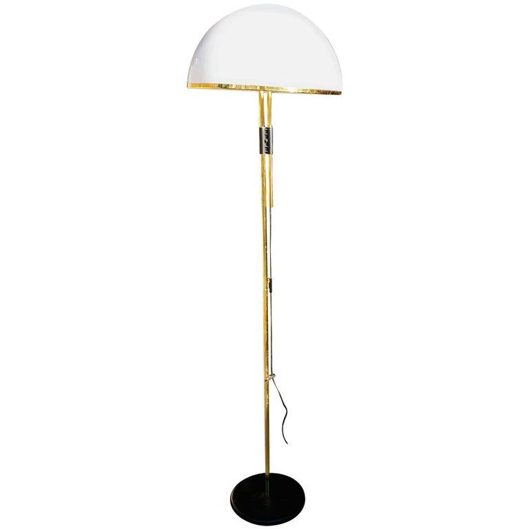1980s Gilded Brass Standing Lamp