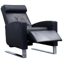 Wittmann Lindbergh Kai Stania Designer Armchair Leather Black Couch Modern